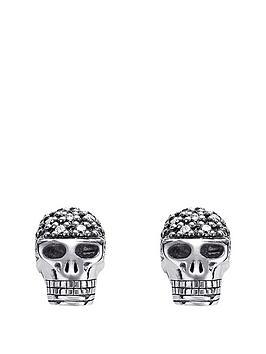 Thomas Sabo Thomas Sabo Sterling Silver Rebel At Heart Diamond Skull Earrings