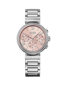 hugo-boss-black-hugo-boss-black-classic-pink-chronograph-dial-stainless-steel-bracelet-ladies-watch
