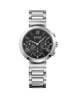 Hugo Boss Black Hugo Boss Black Classic Sport Black Multi Dial Stainless Steel Bracelet Ladies Watch