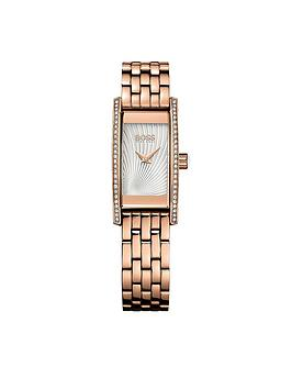 Hugo Boss Black Hugo Boss Black Cocktail Rose Gold Tone Stainless Steel Ladies Watch