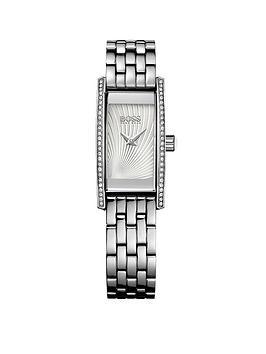 Hugo Boss Black Hugo Boss Black Cocktail Silver Tone Stainless Steel Bracelet Ladies Watch