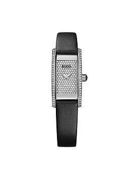Hugo Boss Black Hugo Boss Black Cocktail Black Leather Strap Ladies Watch