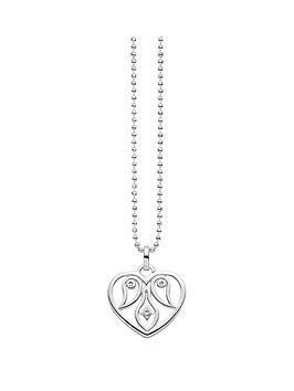 Thomas Sabo Thomas Sabo Sterling Silver Glam &Amp Soul Diamond Set Heart Necklace