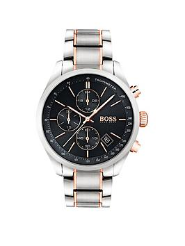 Boss Boss Black Grand Prix Black Chronograph Dial Two Tone Stainless Steel  ... Picture