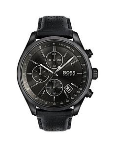 hugo-boss-black-hugo-boss-black-grand-prix-black-chronograph-dial-black-leather-strap-mens-watch