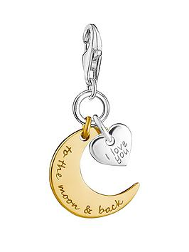 Thomas Sabo Thomas Sabo Sterling Silver Charm Club Love You To The Moon  ... Picture