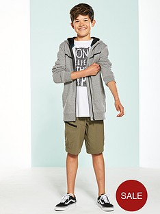 v-by-very-tech-zip-front-short