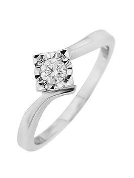 starlight-9ct-gold-12ct-princess-look-15-points-diamond-illusion-set-ring