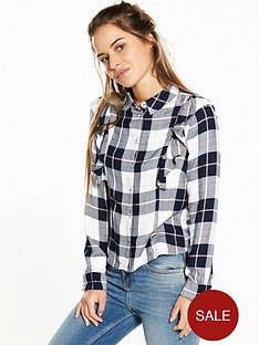 v-by-very-petite-long-sleeve-check-ruffle-shirt