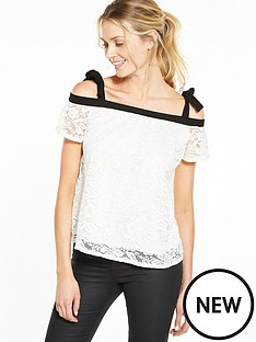 v-by-very-bardot-bow-shoulder-lace-top