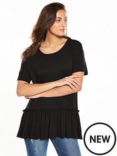 v-by-very-frill-hem-t-shirt-blacknbsp
