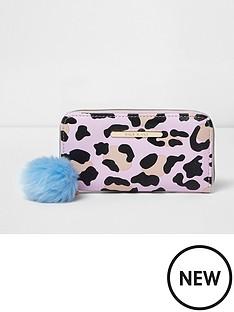 river-island-river-island-girls-zip-round-leopard-print-purse
