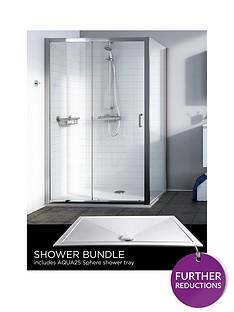 aqualux-source-sliding-door-side-panel-aq25-sphere-shower-tray-1200-x-900mm