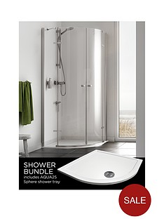 aqualux-origin-quadrant-and-aq25-shower-tray-pack-800-x-800mm