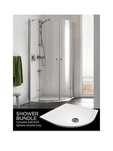 aqualux-origin-quadrant-and-aq25-shower-tray-pack-900-x-900mm