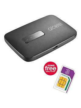 Alcatel Linkzone Mobile Wifi With 200Mb Three Data