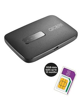 Alcatel Linkzone Mobile Wifi Device With 12Gb Three Data