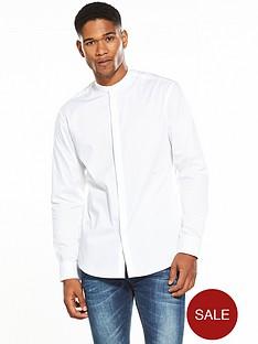 selected-homme-long-sleeved-grandad-collar-shirt