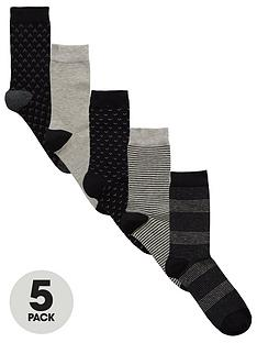 v-by-very-5-pk-mixed-stripes-socks