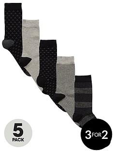 v-by-very-5-pk-mixed-stripes-socks