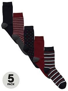 v-by-very-5-pk-spot-amp-stripe-socks