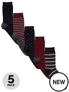 v-by-very-5-pk-spot-amp-stripe-socks