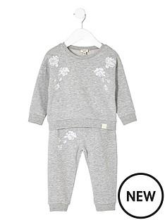 river-island-mini-mini-girls-grey-sweatshirt-and-joggers-set