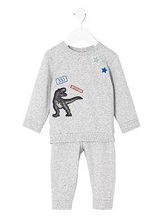 river-island-mini-boys-dinosaur-print-sweat-outfit
