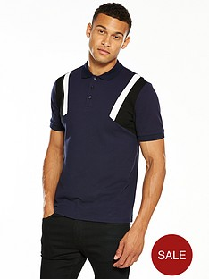 v-by-very-mens-colour-block-sleeve-polo