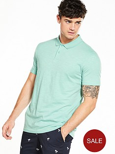 v-by-very-short-sleeve-slub-polo