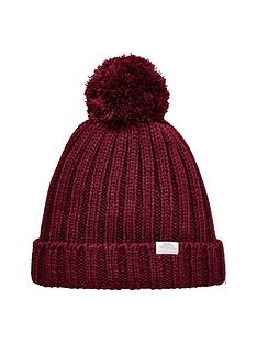 trespass-alishanbspknitted-pom-pom-hat-burgundy