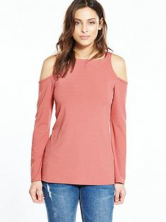 v-by-very-long-sleeve-cut-out-shoulder-top
