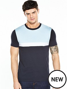 v-by-very-ss-colour-block-chest-stripe-tee