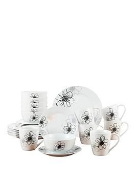 Waterside Blossom 24Piece Dinner Set