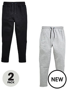 v-by-very-boys-panel-jogging-bottoms--blackcharcoal-2-pack