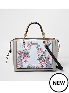 river-island-river-island-peacock-print-large-structured-tote