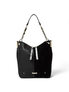 river-island-river-island-zip-amp-chain-detail-slouch-shoulder-bag