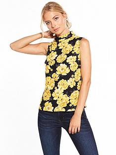 v-by-very-roll-collar-sleeveless-blouse