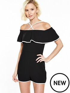 river-island-black-frill-playsuit