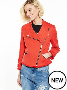 river-island-red-boucle-biker-jacket