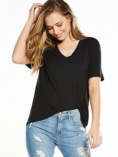 calvin-klein-jeans-lexi-v-neck-t-shirt-ck-black