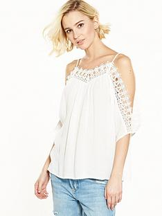 river-island-cream-cold-shoulder-top