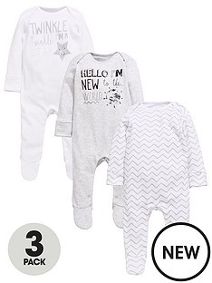mini-v-by-very-baby-unisex-3pk-slogan-sleepsuits