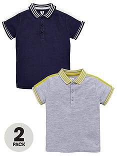 mini-v-by-very-boys-2pk-grey-amp-navy-polos