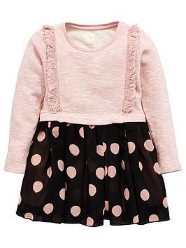 mini-v-by-very-mini-v-by-verynbspgirls-frill-sweat-amp-polka-dot-gorgette-skirt-dress