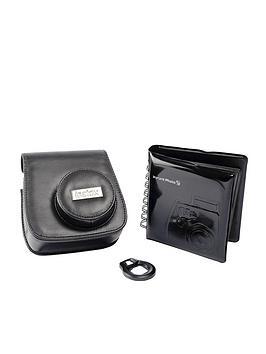 Fuji Fuji Instax Mini 8 Acc Kit Case Mini Photo Album Close Up Lens Mirror  Black