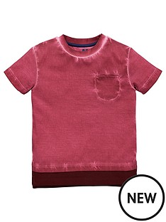 mini-v-by-very-boys-red-oil-wash-pocket-tee