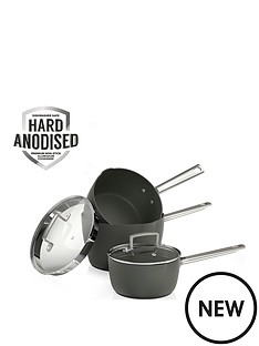 tower-pro-hard-anodised-3-piece-saucepan-set