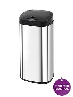 morphy-richards-50-litre-chromanbspsquare-sensor-bin-ndash-stainless-steel