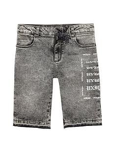 river-island-boys-grey-dylan-acid-wash-skinny-denim-shorts